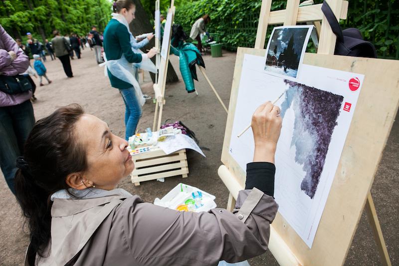 Любой желающий сможет написать картину в Летнем саду в День Города