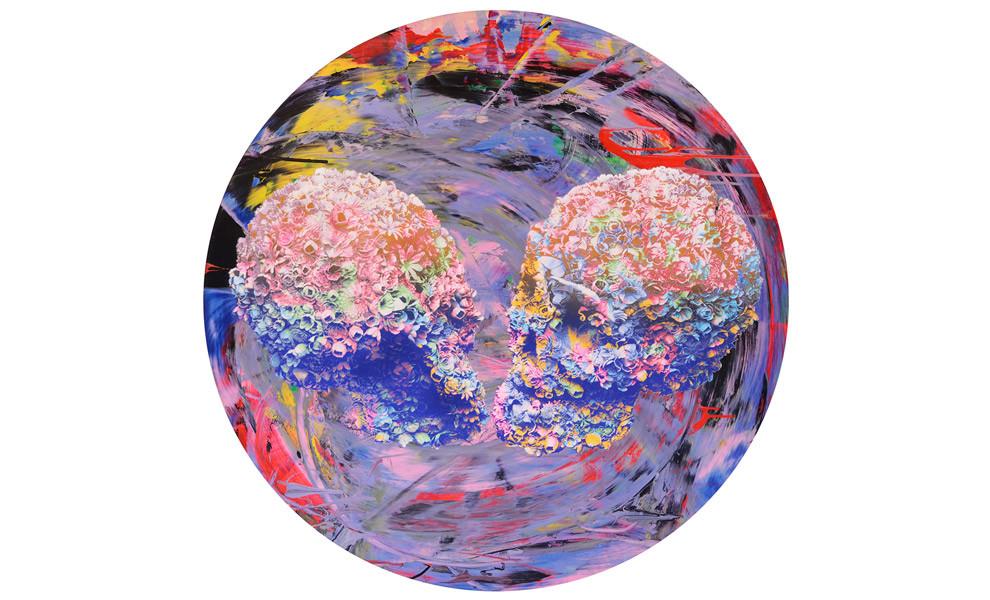 Цветочные черепа и другие работы Джеки Цая в ММОМА