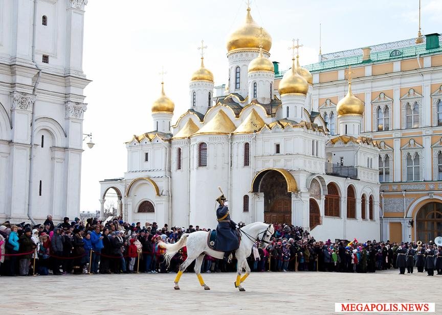 Развод караулов Президентского полка 2018-04-10