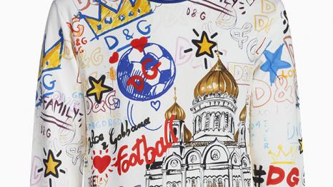 Dolce & Gabbana выпустили коллекцию к ЧМ по футболу 2018