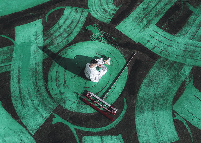 Покрас Лампас создал самую большую каллиграфию в мире